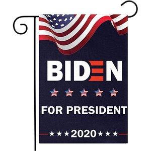 Biden poliéster de doble cara del presidente de la bandera de Joe Biden 2020 Jardín de soporte de la bandera de los Estados Unidos de América 45 * 30 cm Presidente Elección de la bandera
