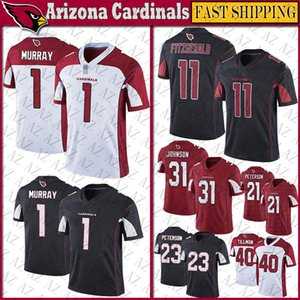 1 Kyler Murray Arizona Futbol Jersey Kardinal 11 Larry Fitzgerald 31 David Johnson 21 Peterson 23 Adrian Peterson 40 Pat Tillman formaları