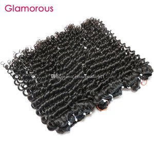 Гламурные индийские пакеты волос оптом необработанные человеческие волосы 3шт плотно вьющиеся вьющиеся монгольские камбоджийские бразильские малайзийские перуанские волосы