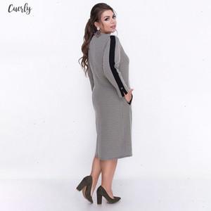 5Xl 6Xl 2020 Autumn Big Size Women Dress Winter Casual Print Patchwork Plus Size Fur Dress Zipper Large Sizes Elegant Party Dresses
