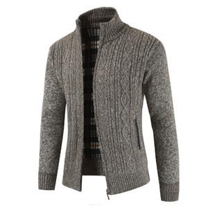 Collare casuale del maglione di modo selvaggio monocromatico maglione NEGIZBER Uomo più velluto Men