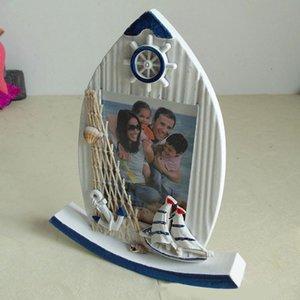 Balancez style méditerranéen délicat affichage Cadeau en bois Voilier Forme Chambre Maison Décoration Cadre photo Image Ornements