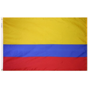 الشحن مجانا مصنع المباشر 3x5Fts 90cmx150cm 100 ٪ البوليستر الأصفر الأزرق الأحمر المشارك العقيد كولومبيا العلم للزينة