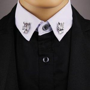 2017 Limitado en el tiempo Limited Broche Pin broches para el juego de la broche de collar decorado cabeza del lobo camisa de los hombres 's Accesorios Tide Ramillete