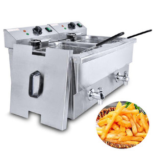 Commercial Deep Fryer Stainless Steel French Fries Machine Fried Chicken Donut Fish Chicken Churros Deep Fryer