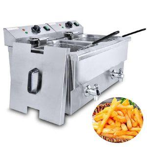 Fries commerciale friggitrice in acciaio inox francesi macchina Fried Chicken ciambella Pesce Pollo Churros Friggitrice