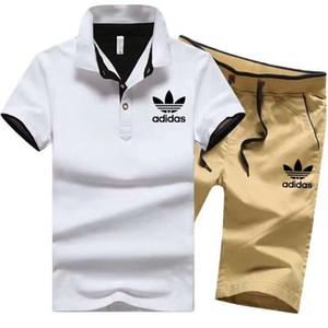 Мужской дизайнерский бренд, 2 шт., Спортивный костюм большого размера, спортивный комплект, спортивная одежда, рубашка поло, спортивные костюмы, леггинсы, наряды, боди, люкс 1424