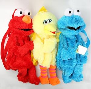 45cm rue Sésame Elmo Cookie série Sac à dos en peluche Sacs Cartoon peluche Fluffy école Sacs à dos unisexe Nouveau