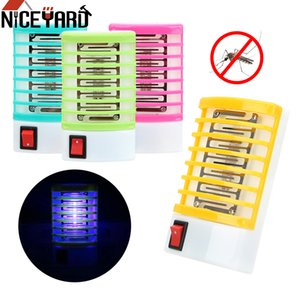 Traps NICEYARD US EU Plug Electric Mosquito Fly Bug Insect Trap Killer LED Socket Novelty Lighting Mosquito Killer Lamps