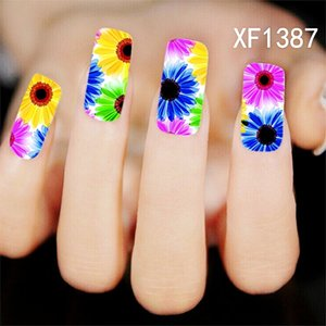 30pcs Lot Nail Art Sticker Colorfull Rose Flowers Butterfly Pattern Nail Decals Salon Water Transfer Printing Nail art Salon Decal Stickers