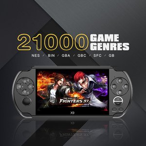 8 GB X9 Handheld Game Player 5 Zoll Großen Bildschirm Tragbare Spielkonsole MP4 Player mit Kamera TV out TF Video Einzelhandel