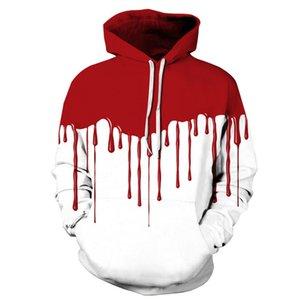 2017 Projeto Homens New Halloween Hoodie 3D Bloods Casais Streetwear Sweatshirts Coats coloridos fatos de treino de bolso
