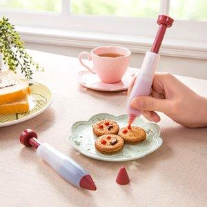 Echootime 1000pcs Pasta Krem Çikolata Dekorasyon Şırınga Silikon Levha Boya Kalem Kek Kurabiye Dondurma Dekorasyon Kalemler