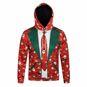 Novos homens e mulheres 3d digital natal hoodies 3d impressão outono esportes e lazer tamanho grande de manga comprida com capuz camisola