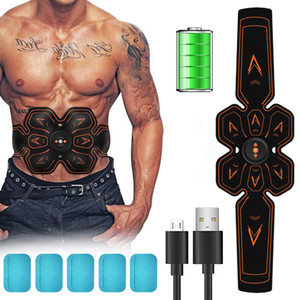 Electric abs EMS Abdominal Muscle Stimulator Body Waist Trainer Fitness Slimming Belt Weight Loss Massager for Man and Woman