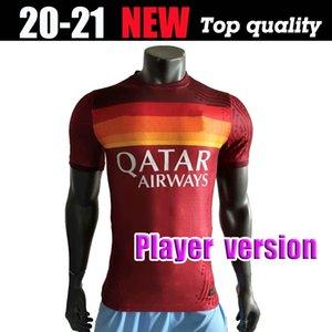 S-XXL Player versione 2020 2021 AS Roma a casa maglie calcio Nainggolan TOTTI DZEKO PEROTTI DE ROSSI PASTORE personalizzato Football Shirt
