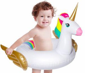 Gonfiabile Unicorn bambino galleggiante piscina giocattoli per i bambini di anello di nuoto Pool Party materasso gonfiabile spiaggia Mar Unicorn Donut
