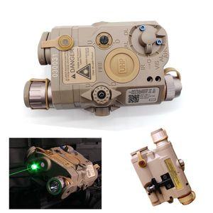 Tactical AN / PEQ-15 Caja de batería Láser Láser de punto verde con linterna LED blanca y lente IR (bronceado)