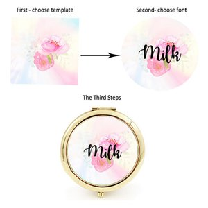 Personalize Unique Custom logo Wedding Bride to Bridesmaid gifts portable compact mirror Personalized gift