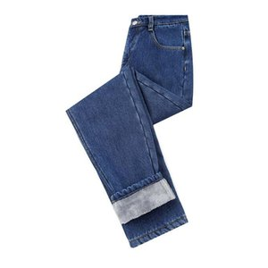 Women Velvet Jeans Winter Trousers High Waist Warm Cowboy Pants Stretch Thicken Denim Pants Womens Winter Jeans Pencil