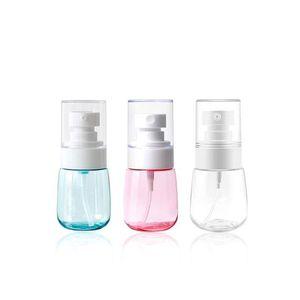 30 ml 60 ml 80 ml 100 ml de viagens superfino sub-garrafa portátil frasco de spray atomizado, garrafa bomba de loção para desinfecção de toner gel higienizador lado