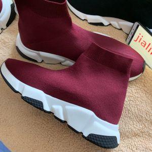 Hot Marca calzino del pattino delle donne degli uomini velocità formatori Sneakers Fashion Knit maglia di alta qualità scarpe Air Boot