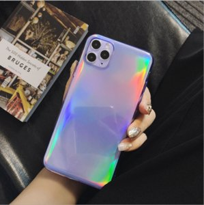 NEW FOR IPHONE6-11 PRO CELL PHONE CASE 100%TPU HIGH MATERIAL SHINNY PRUPLE DIR-RISTANT AND FULL BODY PROTECTOR CASE FREE SHIPPING