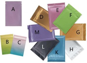 Multi Color Resealable Zip Mylar Bag Aluminum Foil Bag Food Storage Smell Proof Pouche Coffee Powder Candy Package with Zipper Top