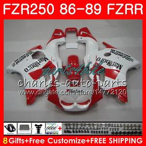 Corps Pour YAMAHA FZR250R FZRR FZR 250R FZR250 86 87 88 89 123HM.21 FZR250RR FZR 250 rouge blanc