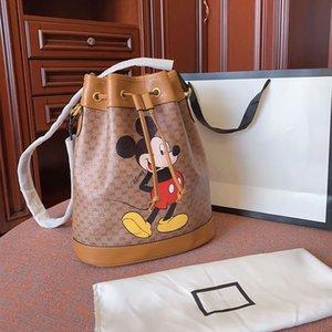 2020 nuevos bolsos de marca impresión de la historieta de las señoras del bolso del cubo en forma de barril bolsa de bolsos de hombro crossbody 26cm de alta capacidad