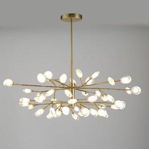 LED Acrylic свет подвеска Nordic Дизайн гостиной Светильники Спальня Peacock Tail Стиль Современные подвесные светильники