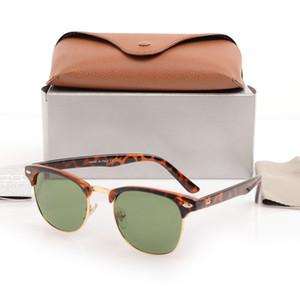 mens alto quanlity club nera occhiali da sole unisex degli occhiali da sole occhiali da donne di protezione solare uv Maestro di marca occhiali da sole del progettista pilota