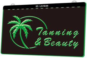 LS1644 Tanning Schönheitssalon Tan Neue 3D-Gravur LED-Licht-Zeichen anpassen on Demand Multiple Color