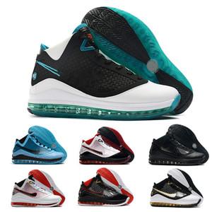 El más reciente LeBrons 7 2020 zapatillas de baloncesto fresca criados IGUALDAD rey Año ligero del tamaño de la zapatilla de deporte de Lebron 7s entrenadores deportivos 7-12