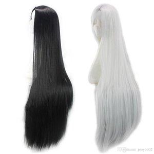 40 pulgadas Venta caliente alta temperatura seda realista nueva moda larga recta fibra química peluca conjunto