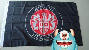 austin bandiera Healey, dimensioni 90x150cm, 100% poliestere, stelle 100% poliestere 90 * 150cm, Stampa Digitale