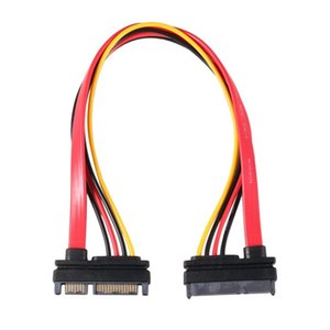 22Pin SATA Cable Male to Female 7+15 Pin Serial ATA SATA Data Power Combo Extension Cable Connector Conterver