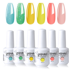 Elite99 6 piezas / lote Gel de uñas UV Set de esmalte de uñas VERNIS SEMI-PERMANENTE UV Barniz Gellak Base Top Abrigo necesario 15ml Nails Gel Polish