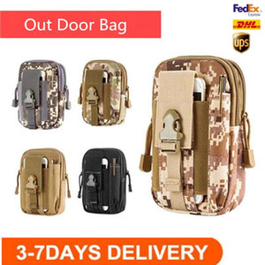 US STOCK Multi-Purpose Poly Tool Holder EDC Pouch Camo Bag Military Nylon Utility Tactical Waist Pack Outdoor Sports Camping Hiking Bag