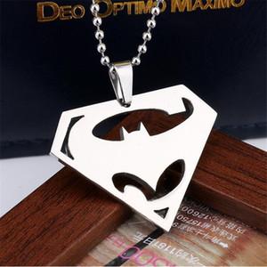 패션 주얼리 실버스톤 슈퍼맨 기호 펜던트 목걸이 triangle batman charm necklace