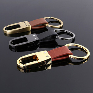 2020 Fashion Men and Womens Gift High-Grade Real Leather Key Chain Best Design Three Colors Car Keychain For Sale