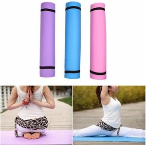 STOCK US 183 * 61 * 1 centímetro thickess Non-Slip Mat Yoga Esporte Pad ginásio suaves de Pilates Mats dobráveis Pads para Body Building Formação Exercícios FY6019