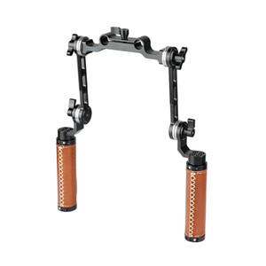 CAMVATE ARRI Rosette Dual Handgrip With Adjustable Extension Arm For DV Camcorder Handheld Shoulder Rig C2073