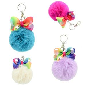 Schlüsselbund niedlichen pompon jojo swia schlüsselbund wolle ball schlüsselanhänger für kinder rucksack anhänger schlüsselanhänger frauen taschen charme schmuck