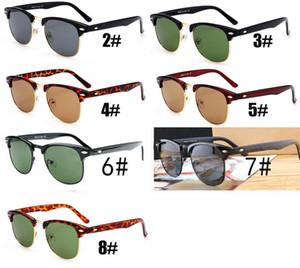 Sommer Männer Metall Sonnenbrillen GLAS OBJEKTE Fahrglas Radfahren Frauen Fahrrad Glas Fahren Sonnenbrillen FASHION 7COLORS Schiff frei