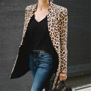 Nueva capa de Mujeres Winter Warm Coat Jacket Coats Moda impresión del leopardo de las mujeres de las nuevas señoras ropa femenina de lujo