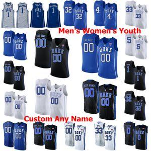 Duke Blue Devils College Basketball Jerseys Jayson 0 Tatum Jersey Marvin 35 Bagley III 13 Joey Baker Goldwire Alex O'Connell personalizado costurado