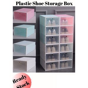 Boîte de rangement en plastique coloré Épaissir PP chaussures armoire à tiroirs anti-poussière Boîte de rangement Accueil Simple Shoes tiroirs