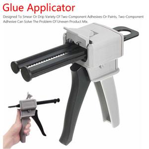 50ml Two Component AB Epoxy Sealant Glue Gun Applicator Glue Adhensive Squeeze Mixed 1:1 Manual Caulking Gun Dispenser