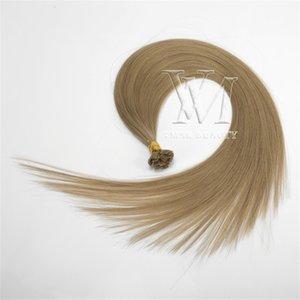 VMAE piatto Tip russo Remy Virgin Consigli 1g / s Pre Bonded doppio Drawn 50g diritti biondi Marrone Grigio cheratina Fusion estensioni dei capelli umani